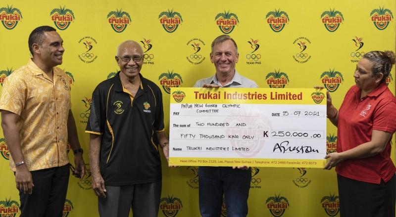 Trukai backs Team PNG with K250, 000