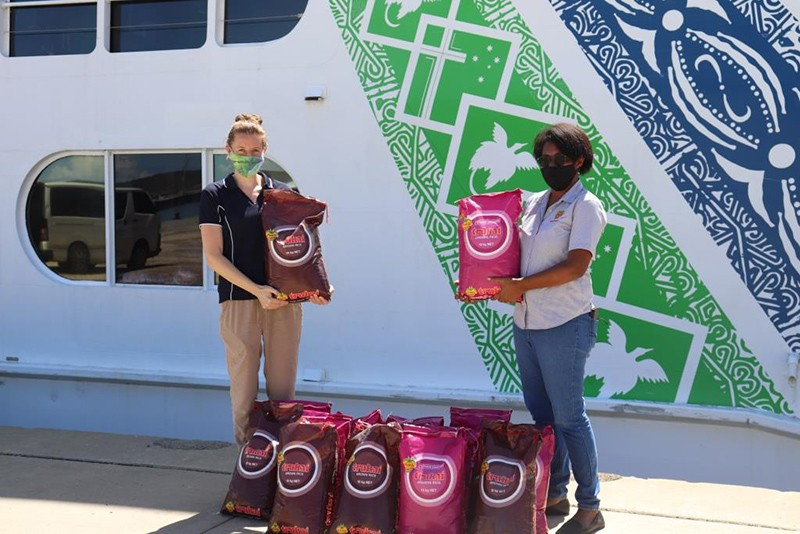Trukai supports YWAM with rice donations